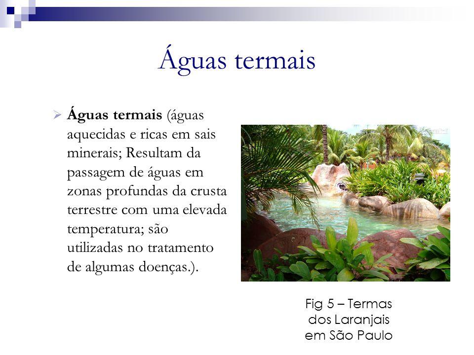 Fig 5 – Termas dos Laranjais em São Paulo