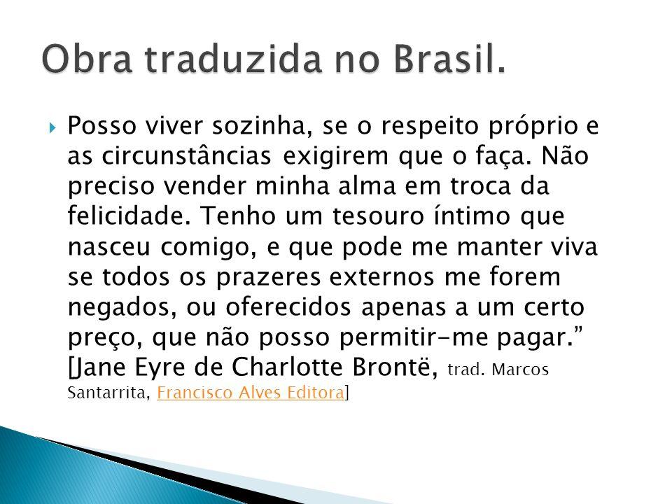 Obra traduzida no Brasil.