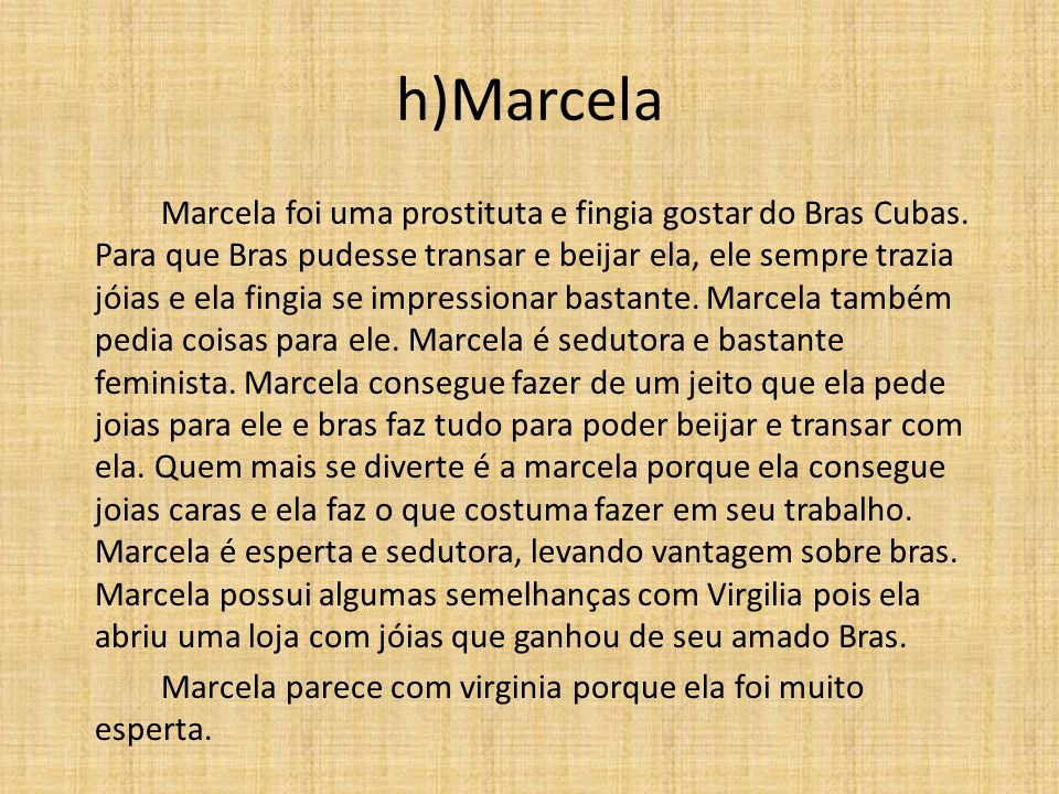 h)Marcela