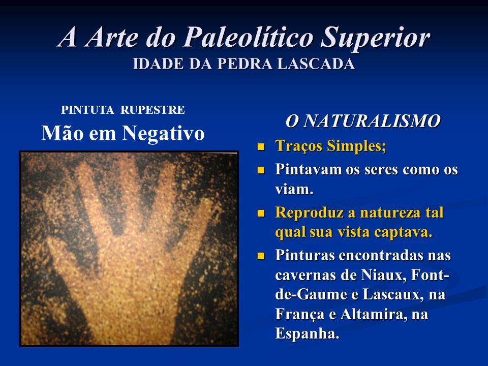 A Arte do Paleolítico Superior IDADE DA PEDRA LASCADA