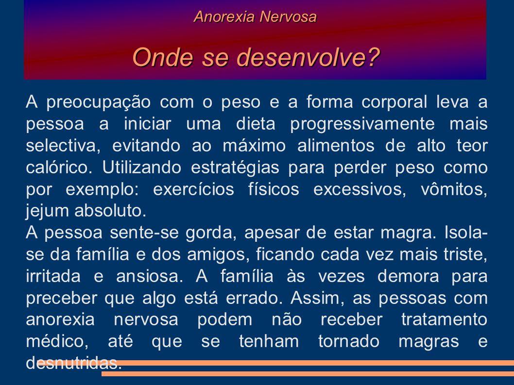 Anorexia Nervosa Onde se desenvolve