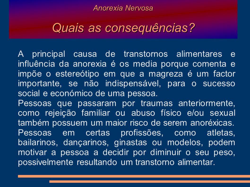 Anorexia Nervosa Quais as consequências