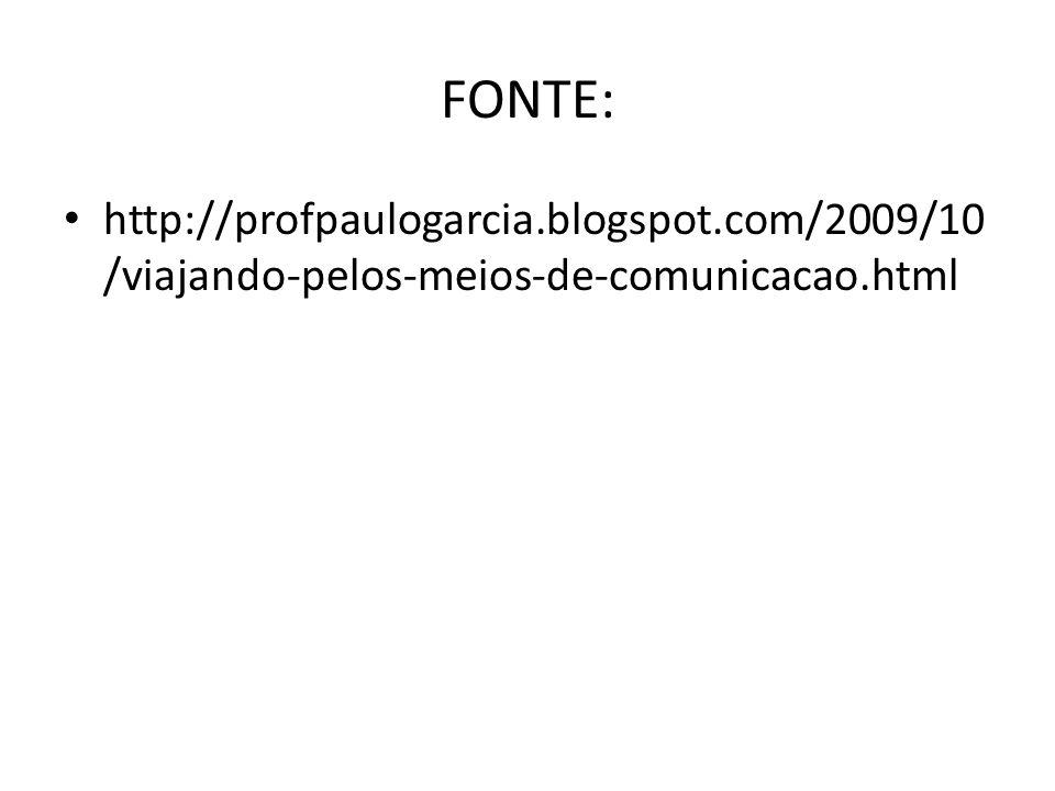 FONTE: http://profpaulogarcia.blogspot.com/2009/10/viajando-pelos-meios-de-comunicacao.html