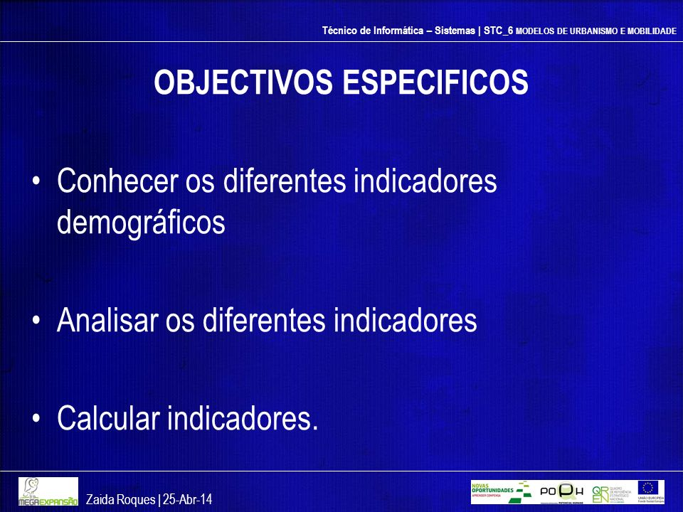 OBJECTIVOS ESPECIFICOS