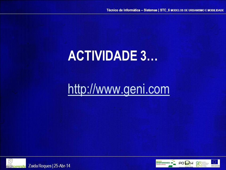 ACTIVIDADE 3… http://www.geni.com Zaida Roques | 26-mar-17