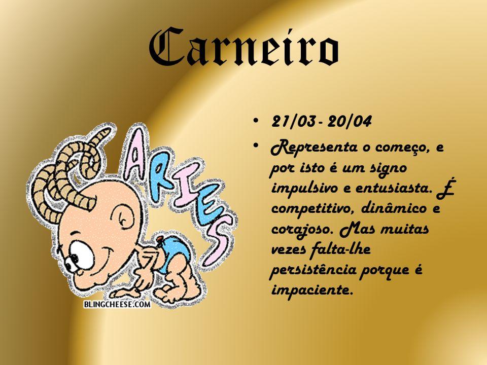 Carneiro 21/03 - 20/04.