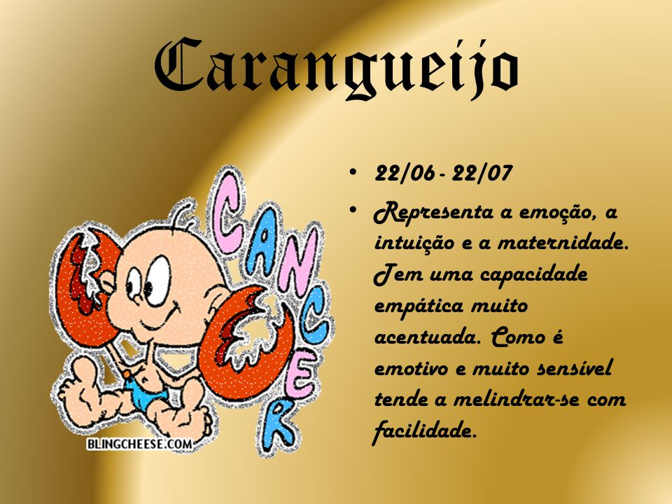 Carangueijo 22/06 - 22/07.