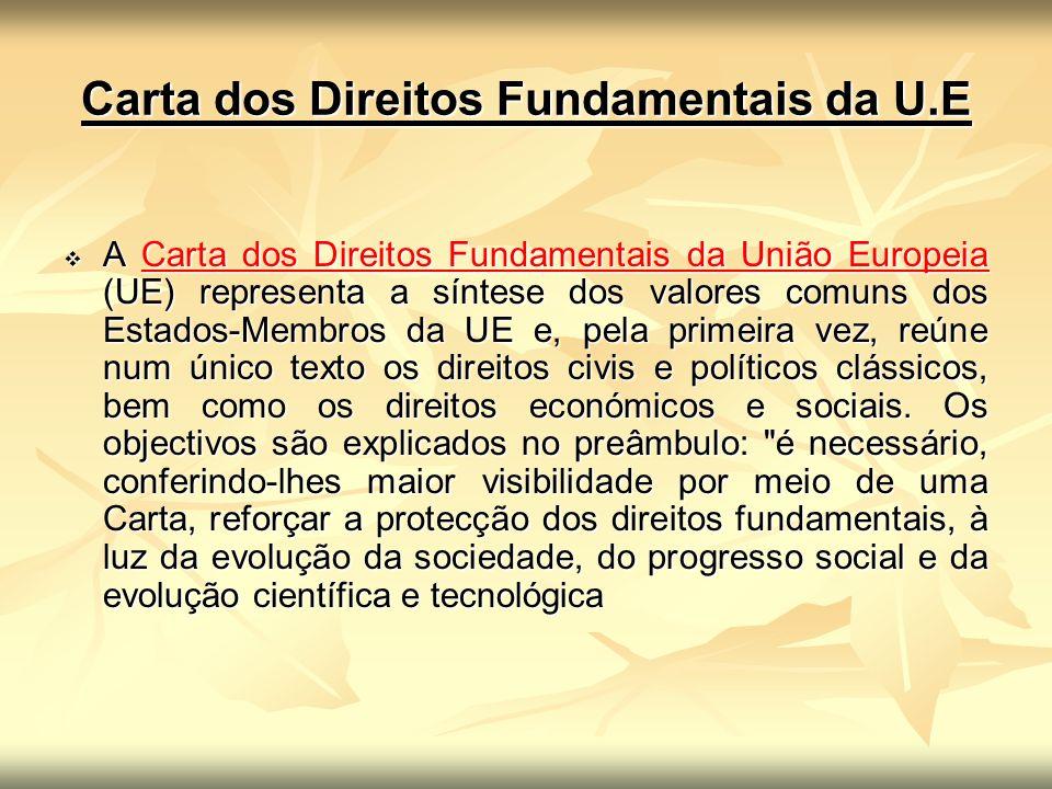 Carta dos Direitos Fundamentais da U.E