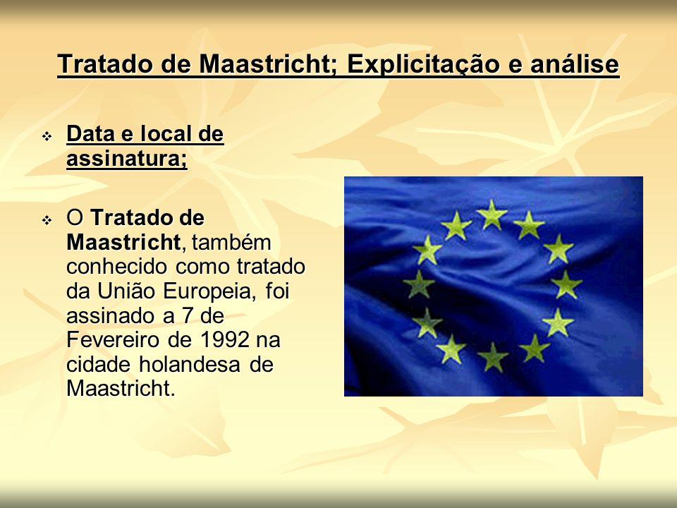 Tratado de Maastricht; Explicitação e análise