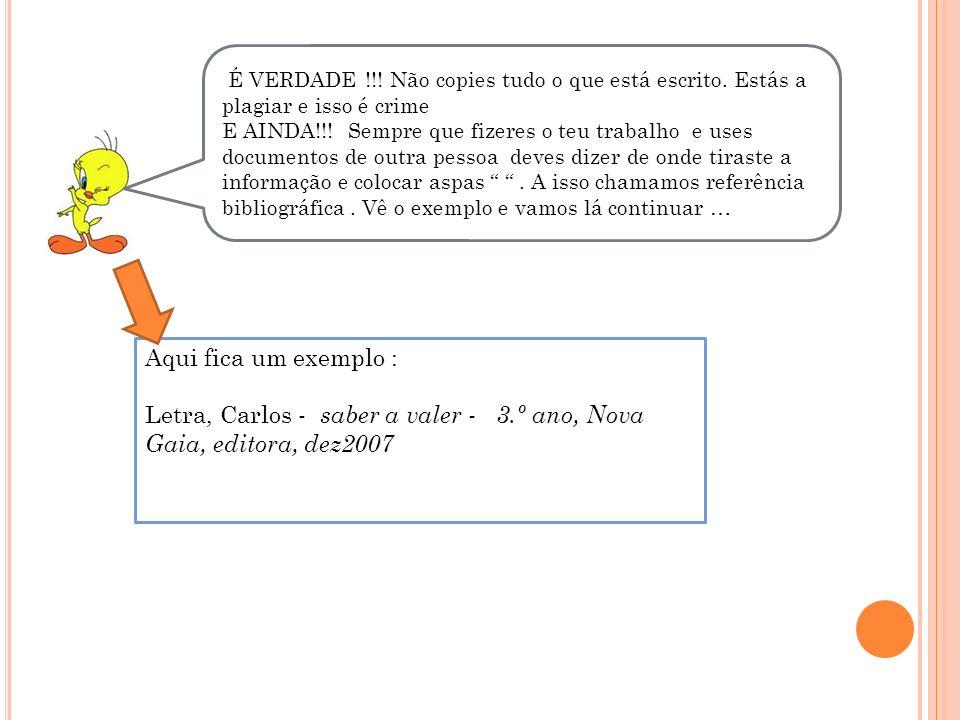 Letra, Carlos - saber a valer - 3.º ano, Nova Gaia, editora, dez2007