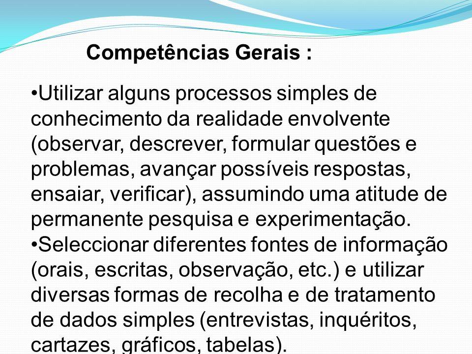 Competências Gerais :