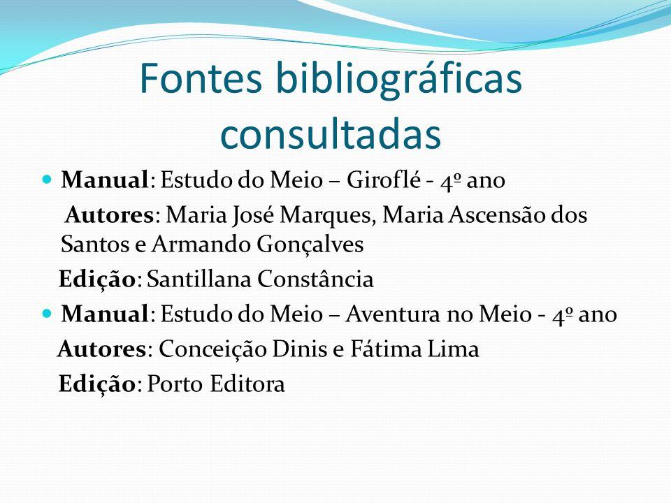 Fontes bibliográficas consultadas