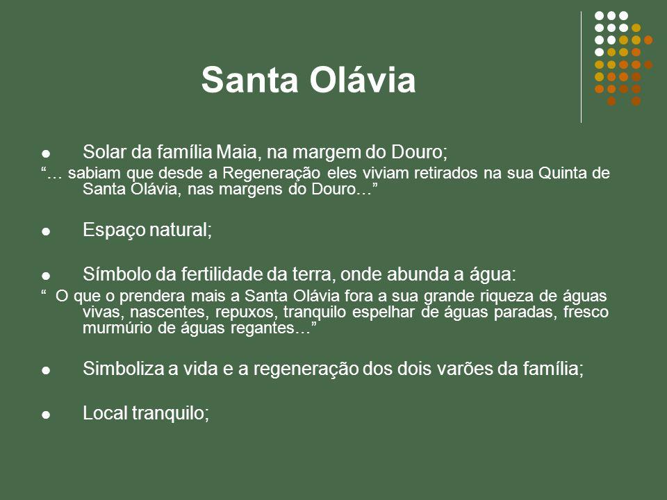 Santa Olávia Solar da família Maia, na margem do Douro;