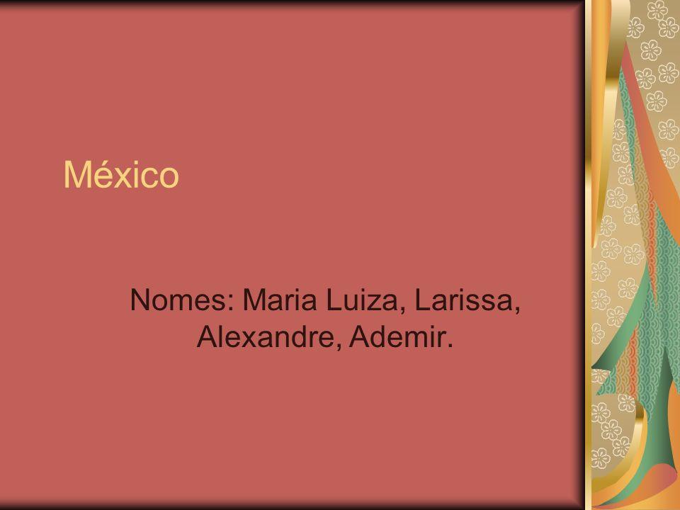 Nomes: Maria Luiza, Larissa, Alexandre, Ademir.