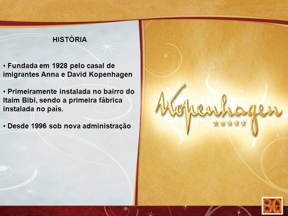 HISTÓRIA Fundada em 1928 pelo casal de imigrantes Anna e David Kopenhagen.