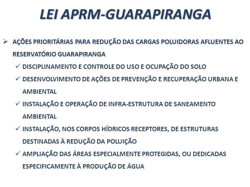 LEI APRM-GUARAPIRANGA