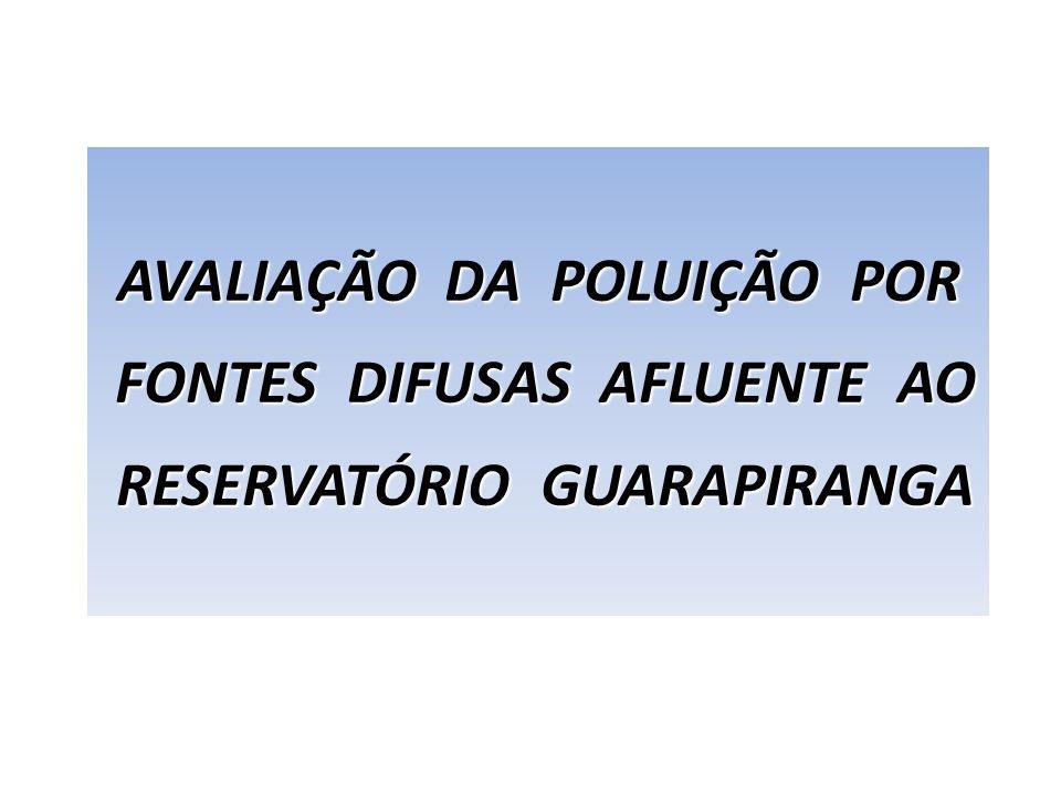 AVALIAÇÃO DA POLUIÇÃO POR FONTES DIFUSAS AFLUENTE AO
