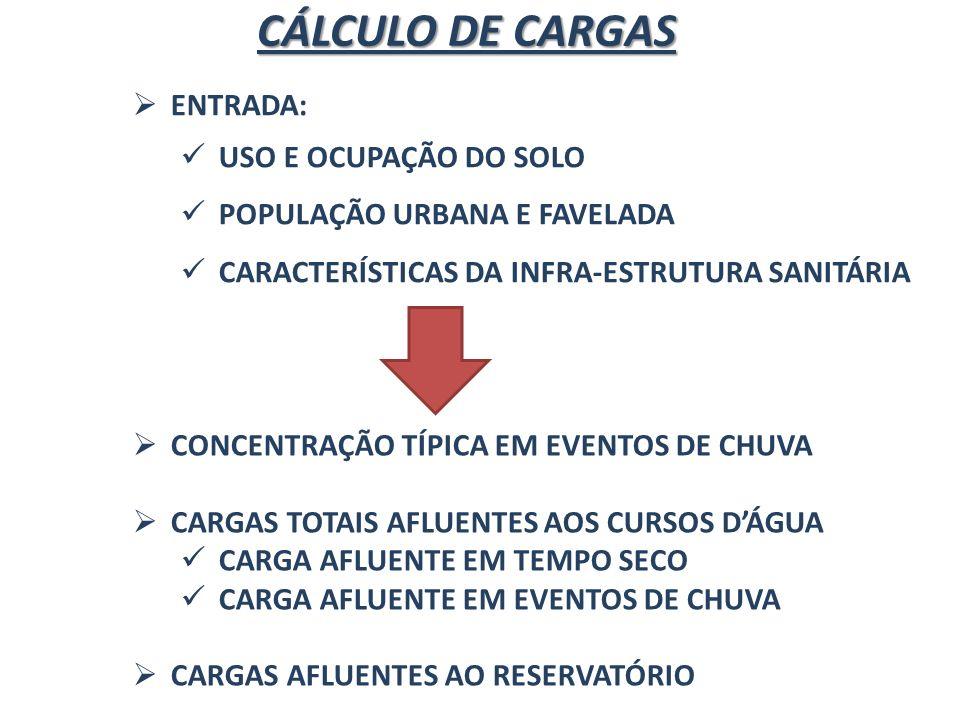 CÁLCULO DE CARGAS ENTRADA: USO E OCUPAÇÃO DO SOLO