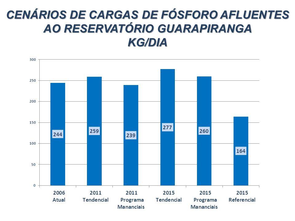 CENÁRIOS DE CARGAS DE FÓSFORO AFLUENTES AO RESERVATÓRIO GUARAPIRANGA
