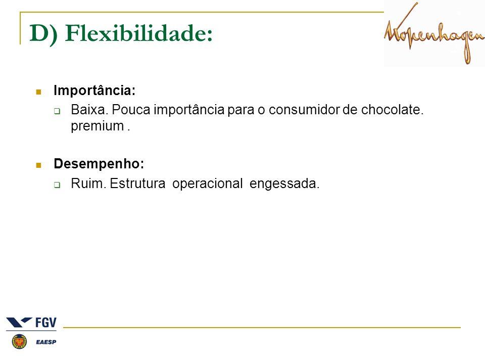 D) Flexibilidade: Importância: