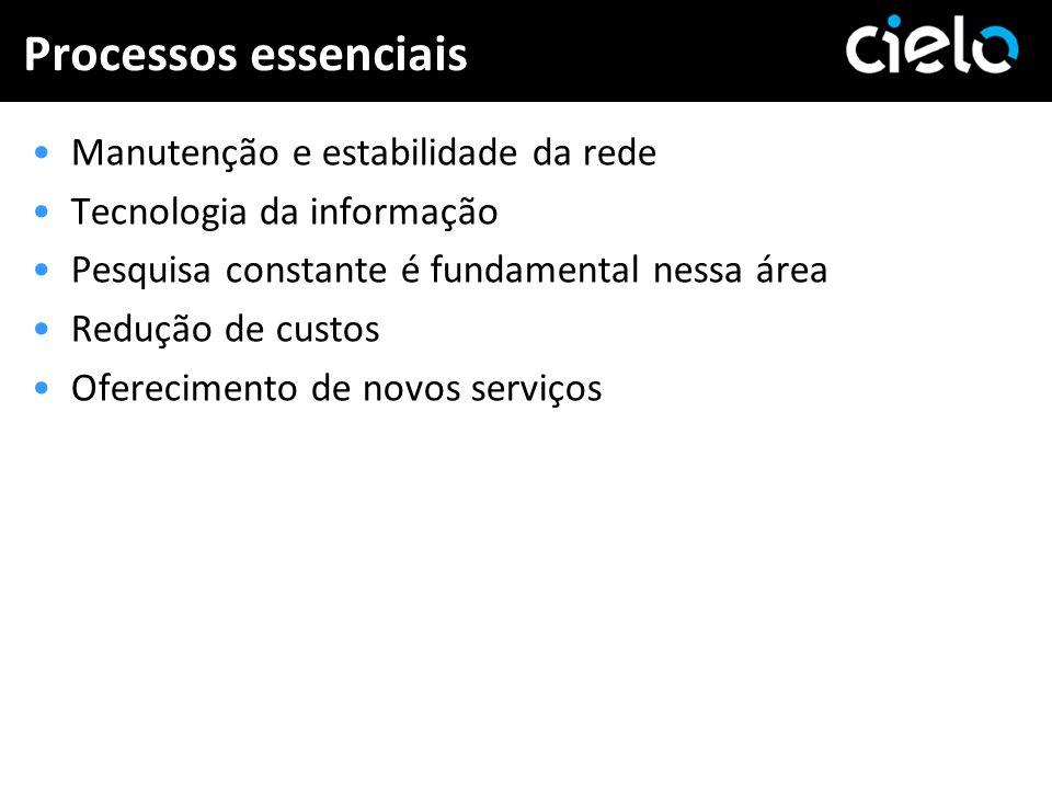 Processos essenciais Manutenção e estabilidade da rede