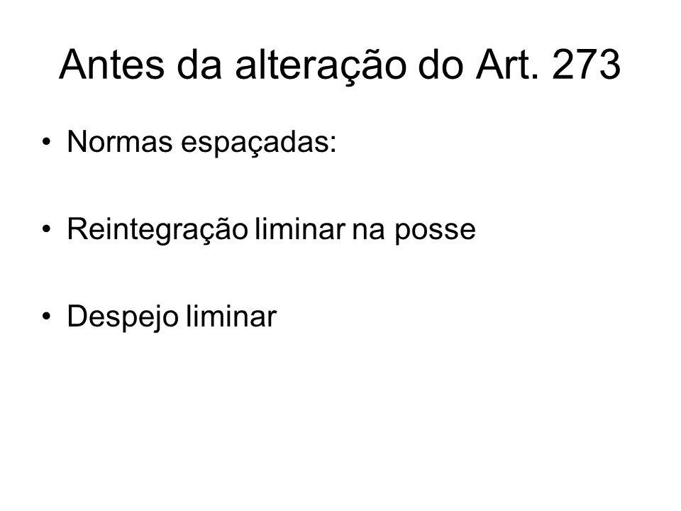 Antes da alteração do Art. 273