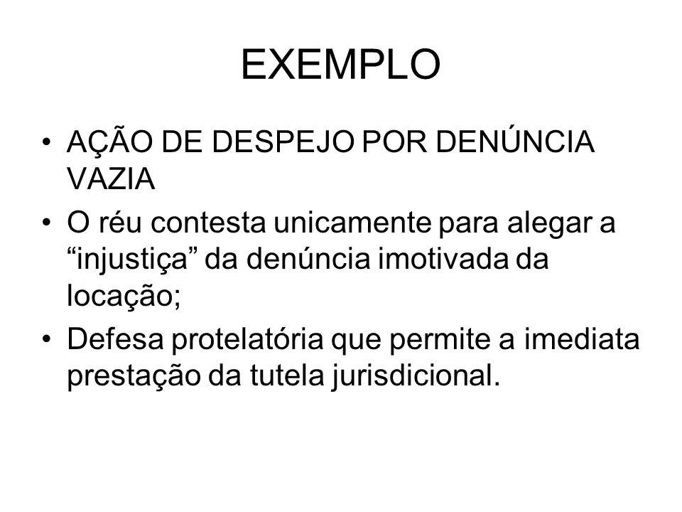 EXEMPLO AÇÃO DE DESPEJO POR DENÚNCIA VAZIA