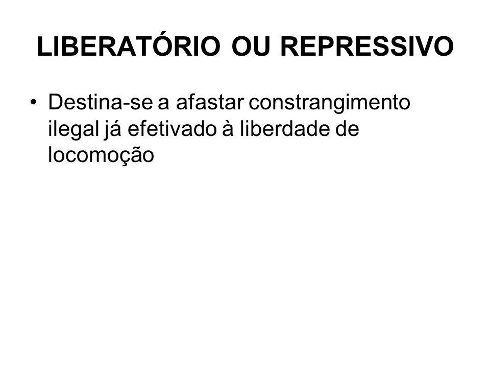 LIBERATÓRIO OU REPRESSIVO