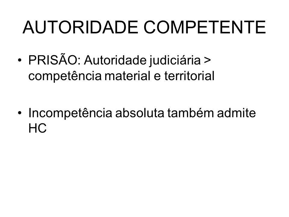 AUTORIDADE COMPETENTE