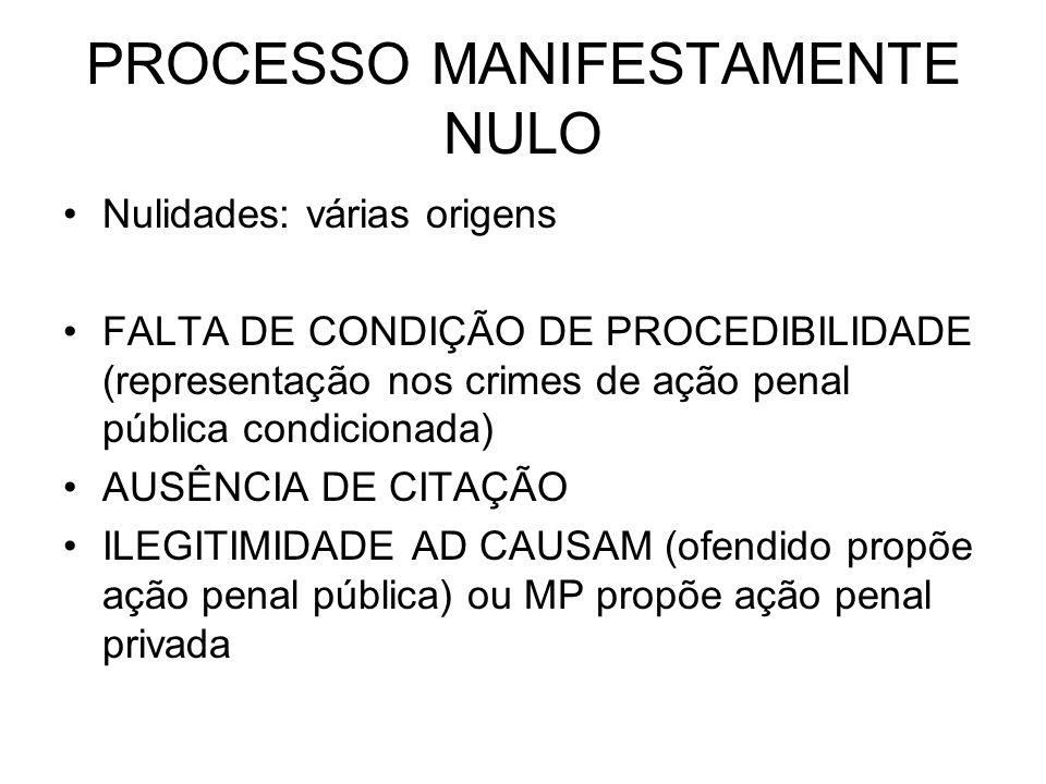 PROCESSO MANIFESTAMENTE NULO