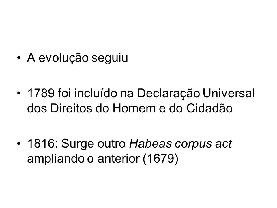 A evolução seguiu 1789 foi incluído na Declaração Universal dos Direitos do Homem e do Cidadão.