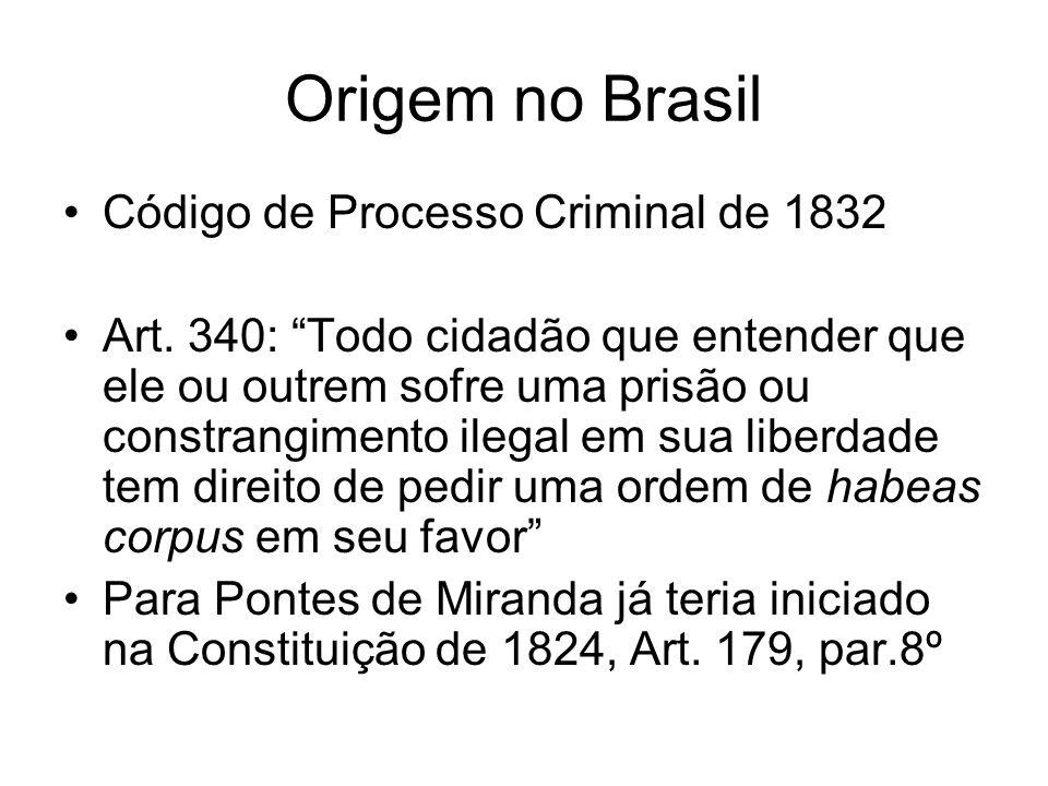 Origem no Brasil Código de Processo Criminal de 1832