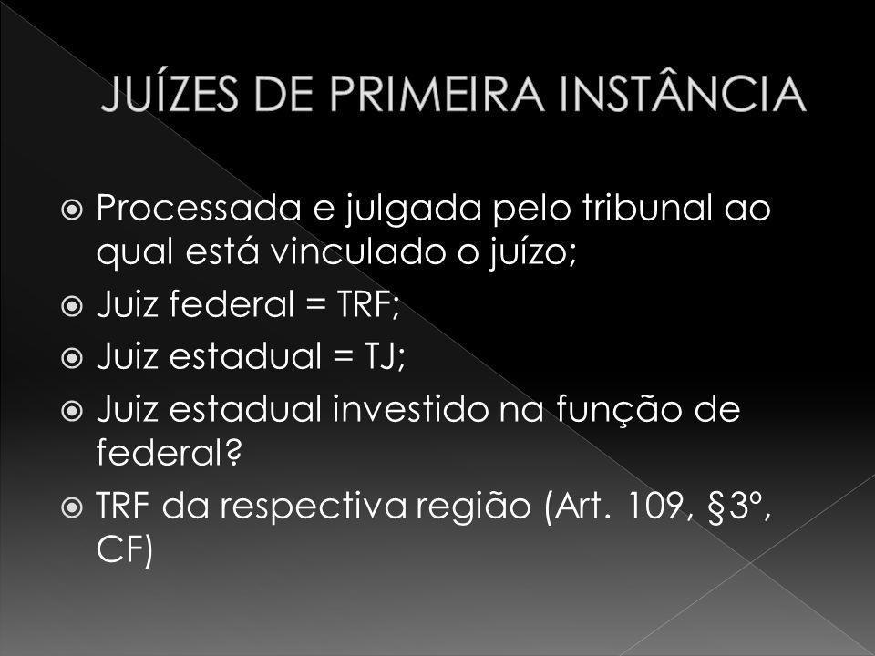 JUÍZES DE PRIMEIRA INSTÂNCIA