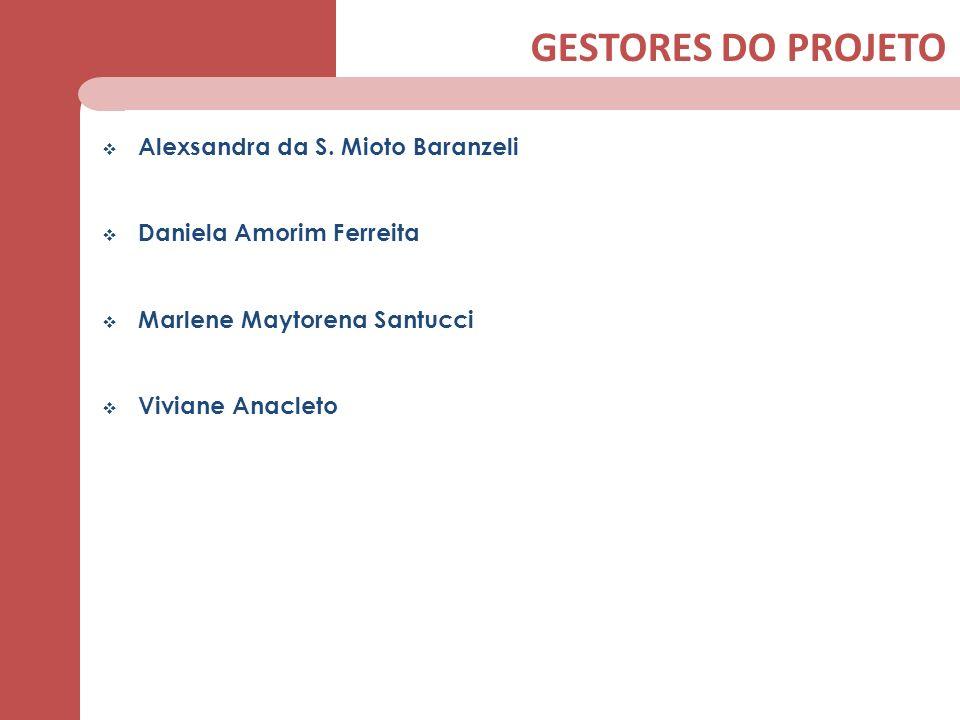 GESTORES DO PROJETO Alexsandra da S. Mioto Baranzeli