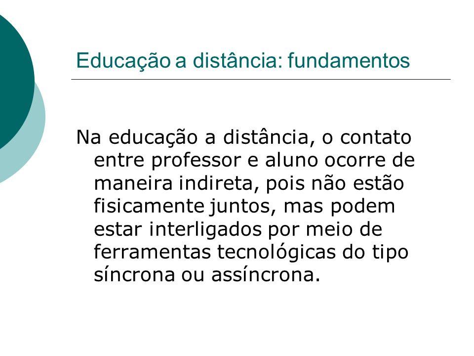 Educação a distância: fundamentos
