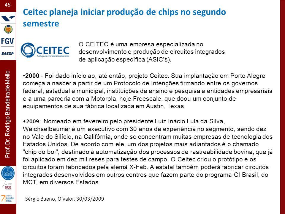 Ceitec planeja iniciar produção de chips no segundo semestre