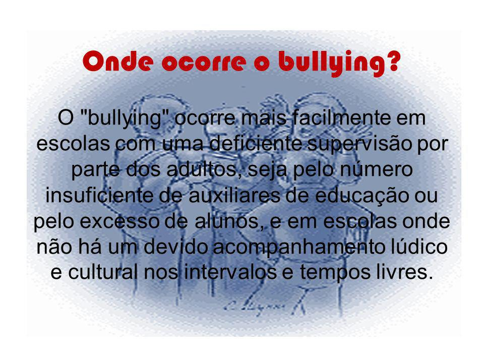 Onde ocorre o bullying.