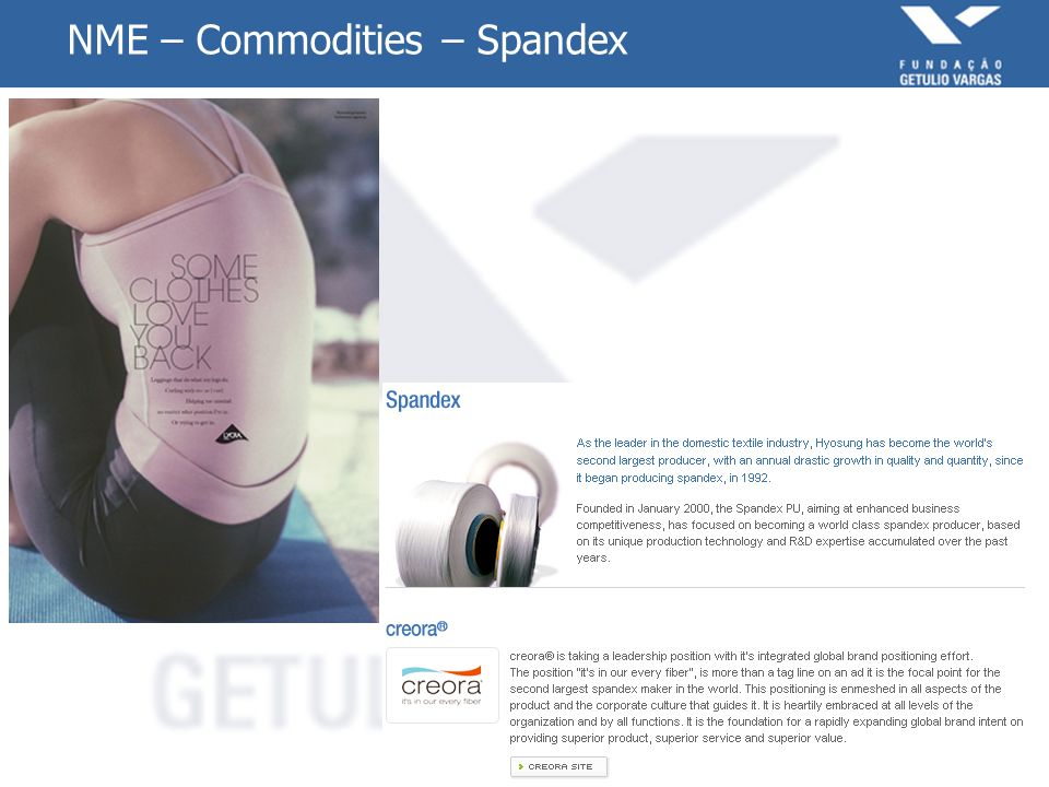 NME – Commodities – Spandex