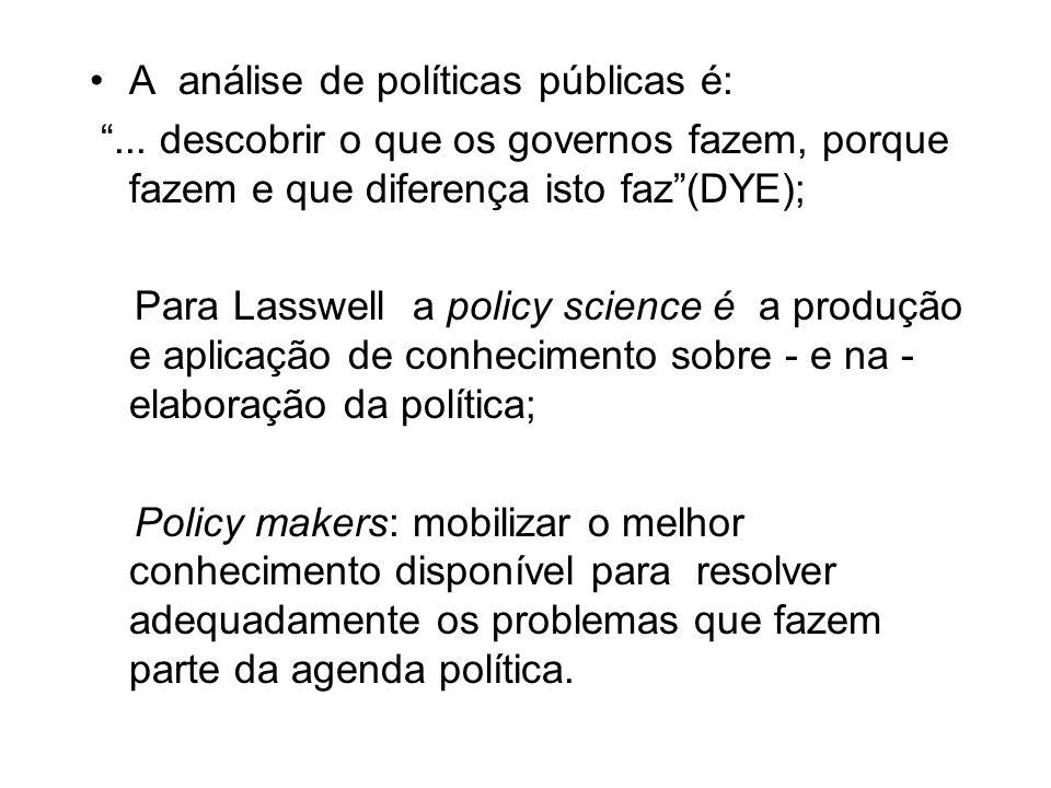 A análise de políticas públicas é: