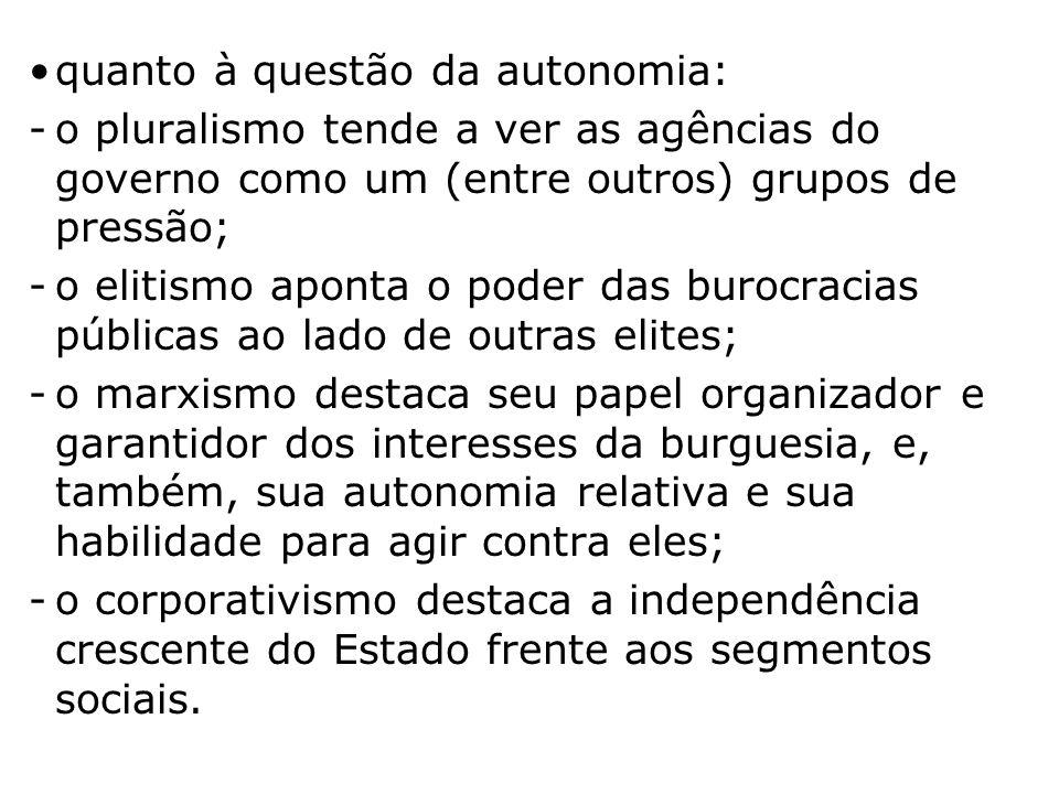 quanto à questão da autonomia: