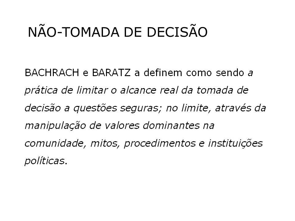 NÃO-TOMADA DE DECISÃO