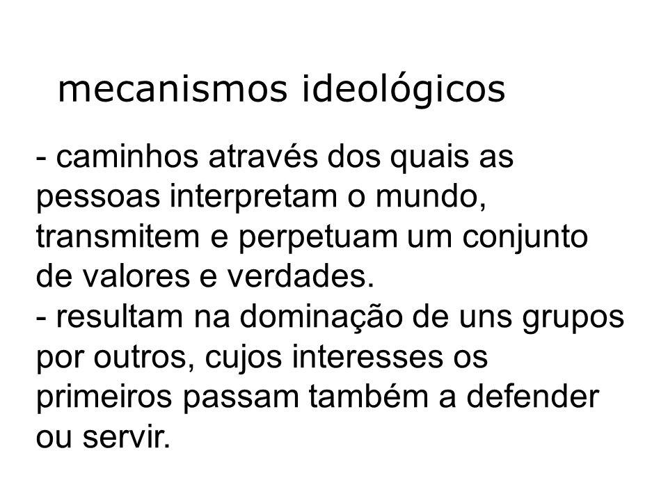 mecanismos ideológicos