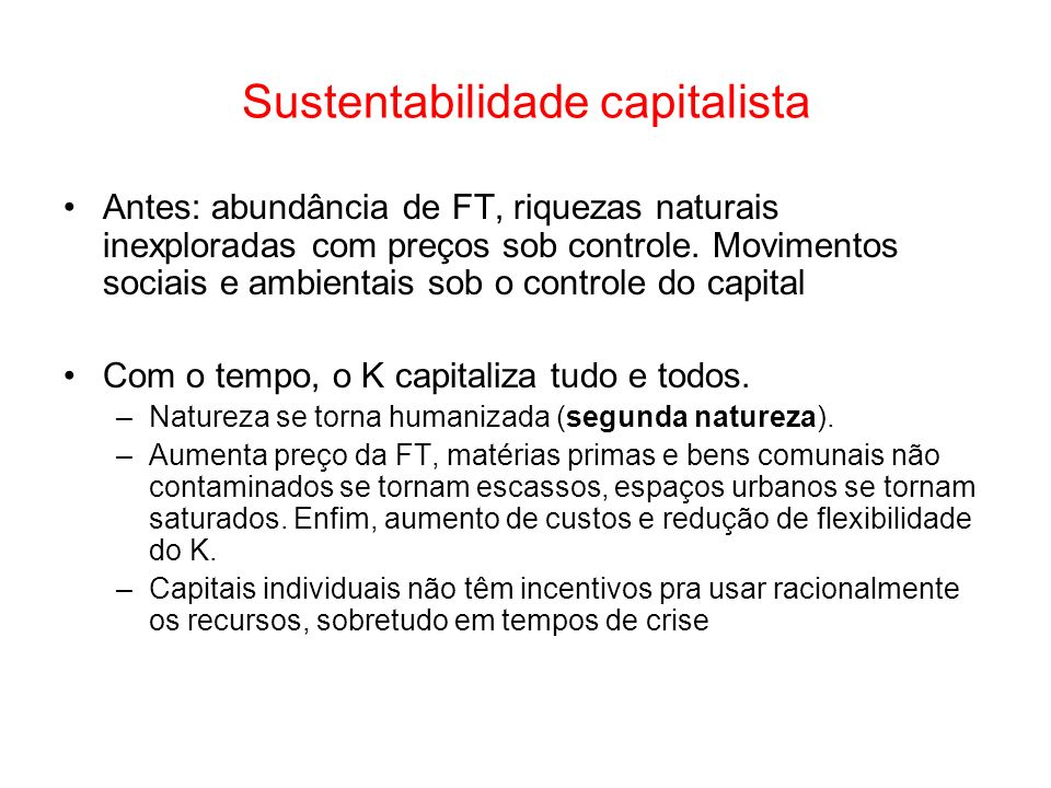 Sustentabilidade capitalista