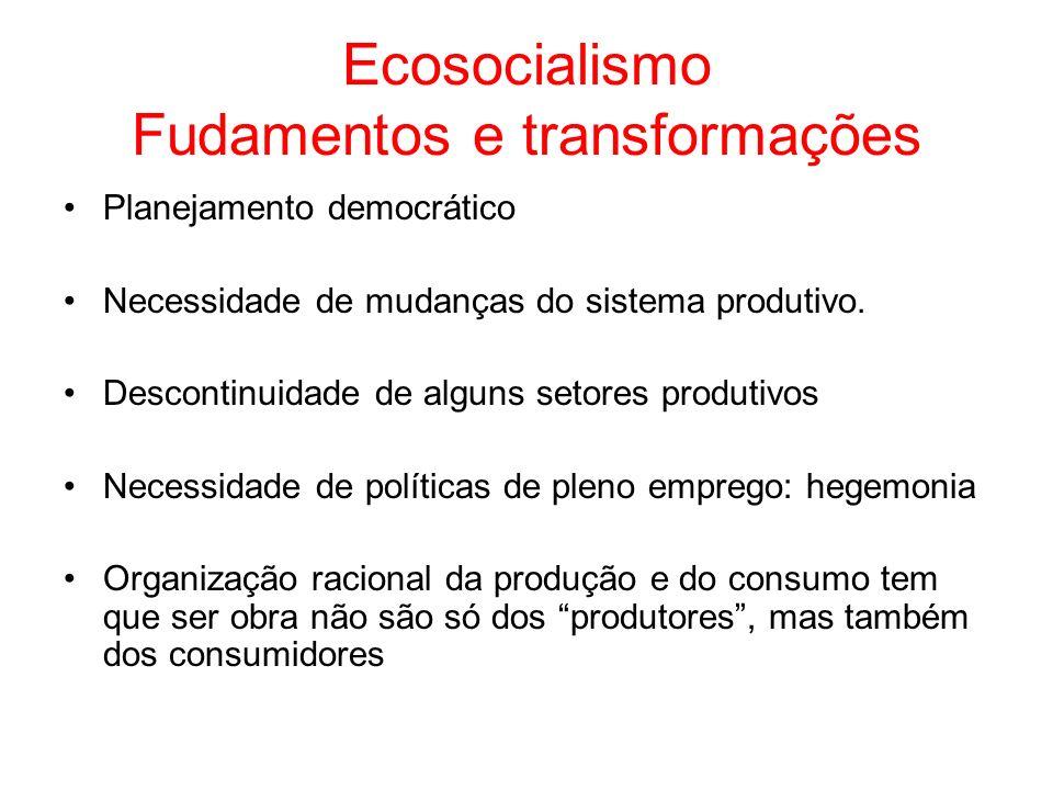 Ecosocialismo Fudamentos e transformações