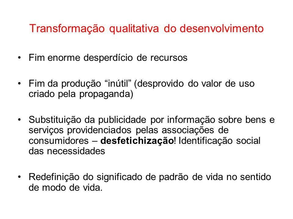 Transformação qualitativa do desenvolvimento