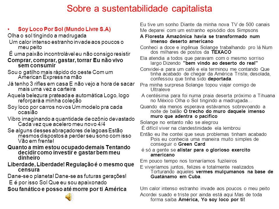 Sobre a sustentabilidade capitalista