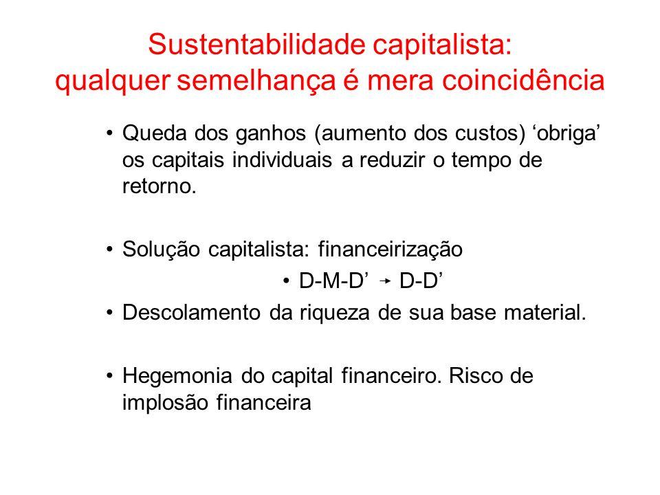 Sustentabilidade capitalista: qualquer semelhança é mera coincidência