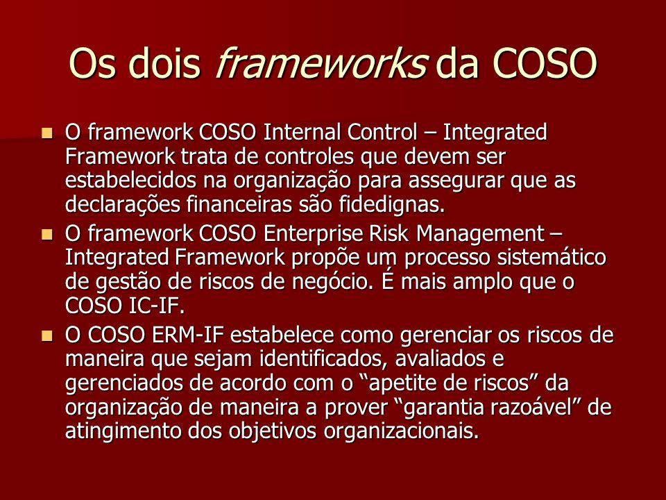 Os dois frameworks da COSO