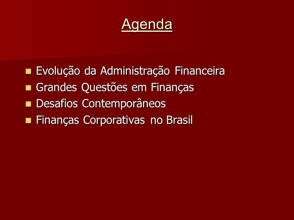 Agenda Evolução da Administração Financeira