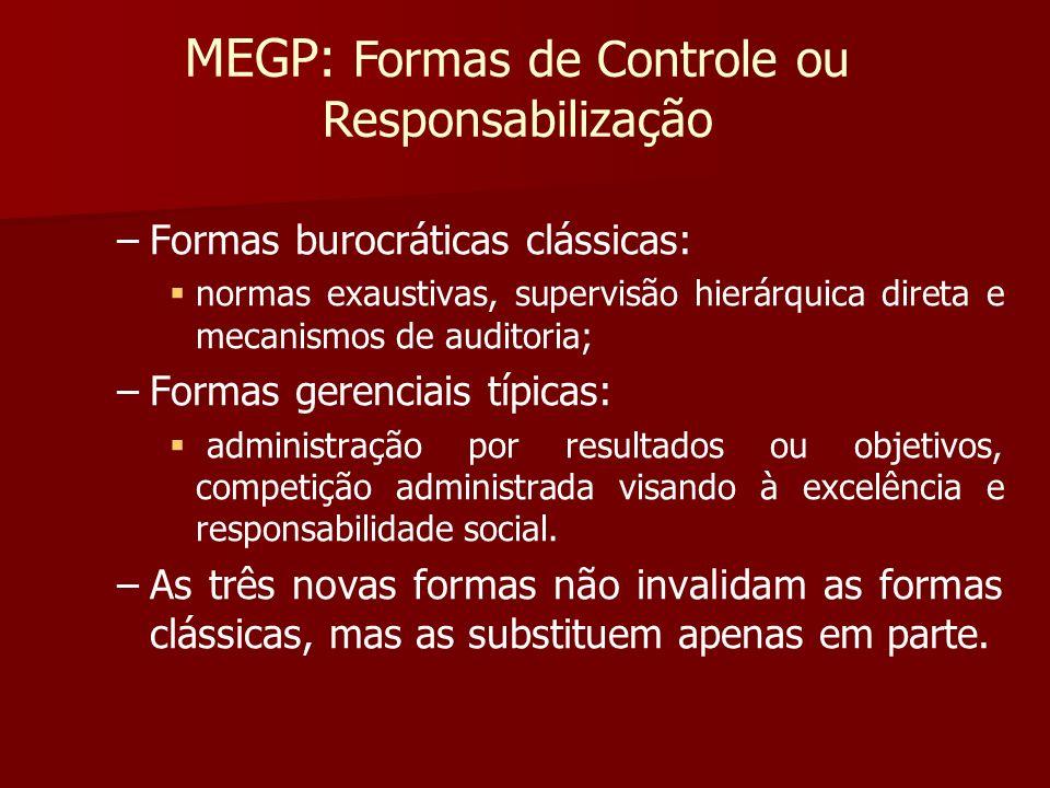 MEGP: Formas de Controle ou Responsabilização
